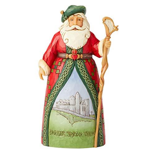 Enesco Jim Shore Heartwood Creek Irish Santa (Claus Shore Santa Jim)