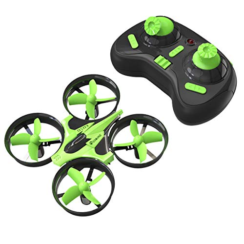 Mini Quadcopter Drone, EACHINE E010 2.4GHz 6-Axis Gyro Remote Control Nano Drone for Kids Adults Beginners – Headless Mode, 3D Flip, One Key Return (Green)