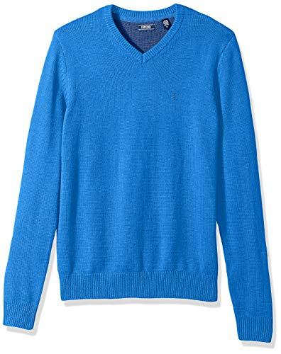 (IZOD Men's Premium Essentials Solid V-Neck 7 Gauge Sweater, New Revival, X-Large)