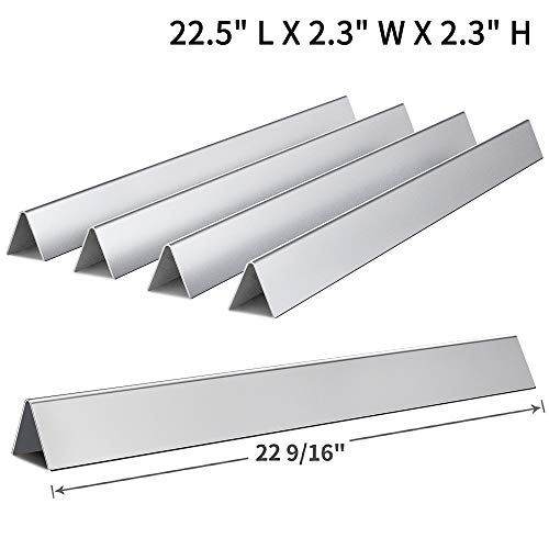 Grill Silver Parts Weber - SHINESTAR 7536 Flavor Bars Replacement for Weber Spirit 300 Flavorizer Bar 22.5