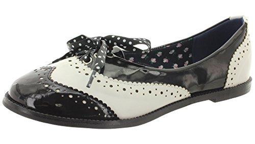 Dancing Days - Zapatos de cordones de Material Sintético para mujer Negro - blanco y negro