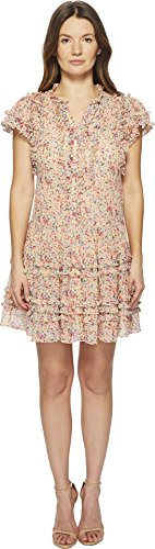 Rebecca Taylor Women's Margo Floral Silk Cotton Voile Dress Multi Combo 0 Silk Voile Dress