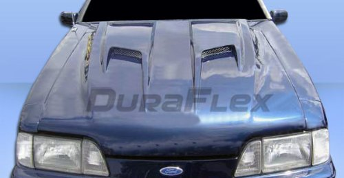 Duraflex Replacement for 1987-1993 Ford Mustang Mach 2 Hood - 1 Piece
