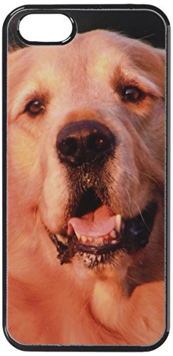 Graphics and More Golden Retriever Dog - Snap-On Hard Protective Case for Apple iPhone 5/5s - Non-Retail Packaging - Black