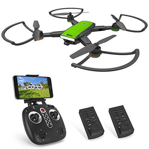 Becrot X28 RC Drone with FPV 720P HD WiFi Camera Live Video 90° Wide-Angle, Foldable Design Quadcopter for Beginners with Altitude Hold, Headless Mode, Modular Battery (Drone w/ 2 Batteries)