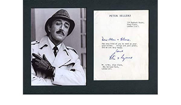 Peter Sellers signed photo print