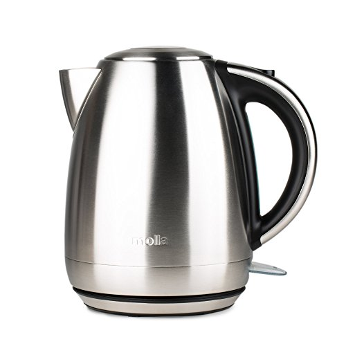 Molla Contento 1.7L Stainless Steel Cordless Electric Water Kettle by Molla