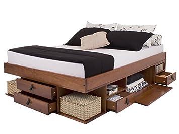 Funktionsbett 140x200 mit lattenrost und matratze  Memomad Funktionsbett Bali 140x200 Viel Stauraum, Schubladen, Preis ...