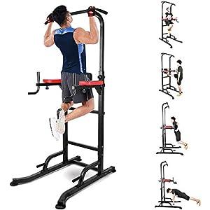 INTEY Chaise Romaine, Power Tower, Tour de Musculation Multifonctions, Entraîneur pour Abdominaux, Dos et Triceps…