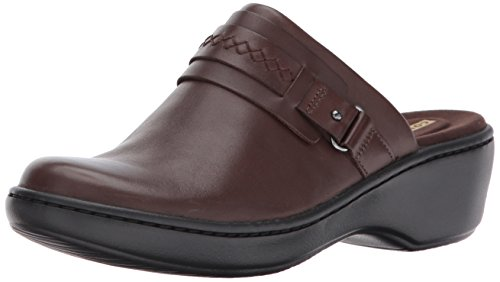 Clarks Women's Delana Amber Clog, Dark Brown Leather, 8 W US