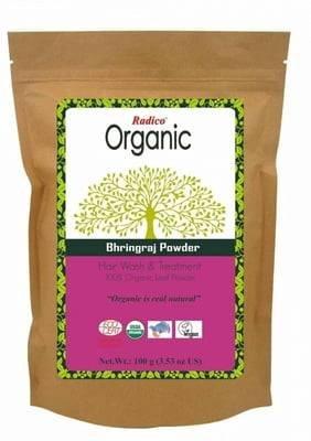 RADICO - Bhringaraj Powder - Cuidado reconstituyente para un cabello sano y resplandeciente - Efecto tonificante