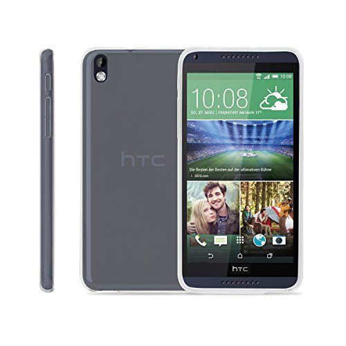SOJITEK BPA-Free HTC Desire 816 Crystal Clear Transparent TPU Silicone Soft Rubber Protective Plastic Cover Case