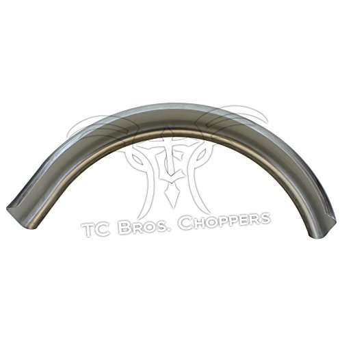 5 Wide Raw Steel Flat Bobber Fender