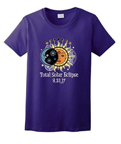 Solar Eclipse Sunglasses Total Solar Eclipse 2017 Solar Eclipse Viewing Ladies T-Shirt XL ()