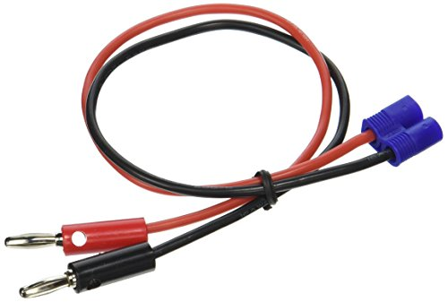 "E-flite EC3 Device Charge Lead with 12"" Wire & Jacks, 16 AWG, EFLAEC312"