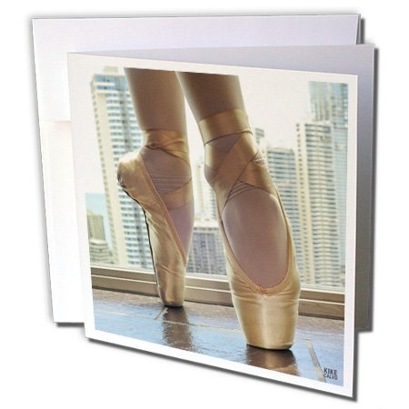 Detail of a pair of ballet shoes - Greeting Cards, 6 x 6 inches, set of 12 -
