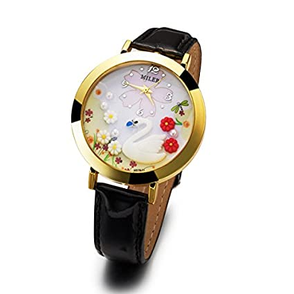 amazon com pearl swan watch fashion watches personalized watches