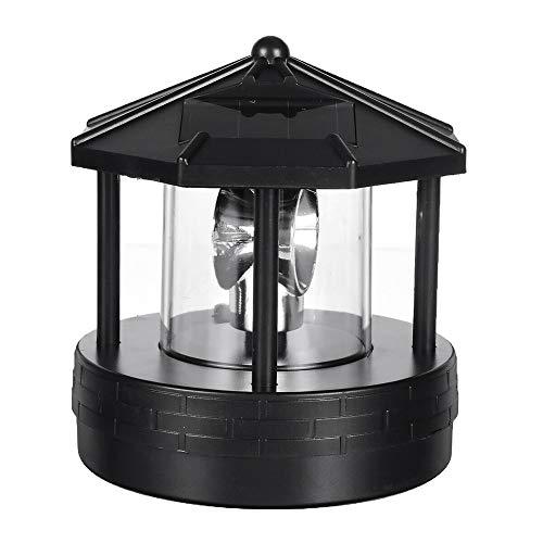 Restarty Solar LED Rotating Lighthouse Light Garden Yard Lawn Lamp Lighting Outdoor Home Decor from Restarty