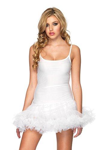 Leg Avenue Women's Petticoat Dress, White, Small/Medium