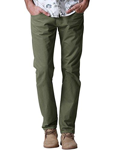 Match Men's Regular Fit Straight Leg Jea - Green Khaki Pants Shopping Results