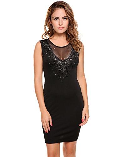 embellished balmain style dress - 1
