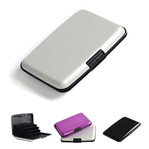 Waterproof credit card holder aluminum card case aluma wallet security credit card wallet as seen on TV, silver