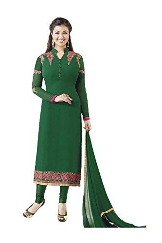 Da Progettista Salwar In Georgette Tradizionale Indian Marrone Etnica Patywear Kameez Anarkali Facioun Verde r6rqgw4