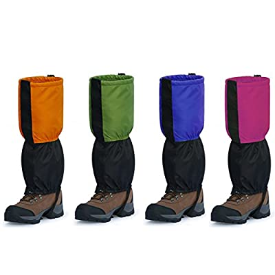 InnoLife Unisex Waterproof Snowproof Outdoor Hiking Walking Gaiters Climbing Hunting Snow Legging Leg Cover Wraps