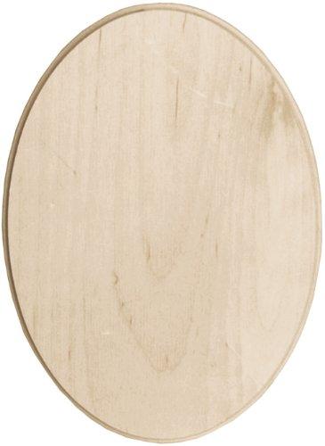 Walnut Hollow Baltic Birch Oval Plaque, 5 by 7-Inch