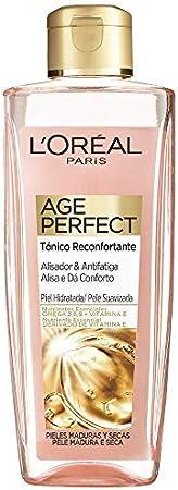 L'Oréal Paris Pack Age Perfect Golden Age incluye crema rosa fortificante día, tónico alisador y de regalo dos unidades de ampollas con colágeno