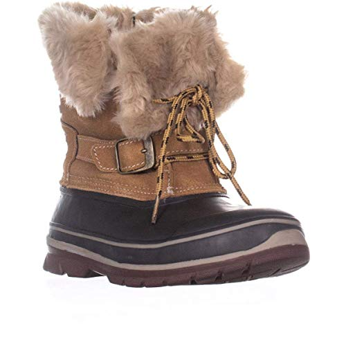 Khombu Brooke Mid Calf Winter Boots, Brown/Coffee, Brown/Coffee, Size 7.5