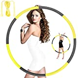 Hoola Hoops for Adults Weight Loss - Weighted Hoola Hoop,Jump Rope Weighted Exercise Hoola Hoops for Kids,Hoola Hoops Bulk,Professional Soft Fitness Hoola Hoops Skipping Rope - Detachable