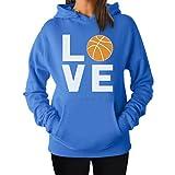 Love Basketball - Gift Idea for Basketball Fans / Player Cool Women Hoodie Medium California Blue