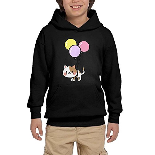 Nice Cat Balloons Unisex Hoodies SweatShirts Youth Printed Pocket Pullovers for sale