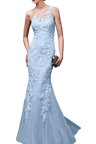 Traumhaft La Partykleider Figurbetont Braut Abendkleider Beige Blau Meerjungfrau Ballkleider Spitze Marie Himmel Neuheit CtqtH