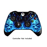 xbox game remote - Skins Stickers for Xbox One Games Controller - Custom Orginal Xbox 1 Remote Controller Wired Wireless Protective Vinyl Decals Covers - Leather Texture Protector Accessories - Blue Daemon
