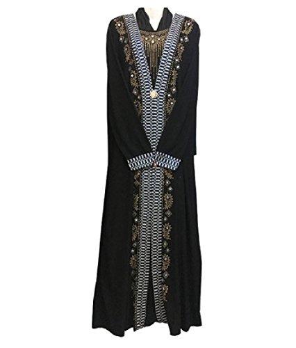 Floral Kaftans Classic Coolred Plus Sequin Long Islamic Size Women Print 2 Abaya Dress qEq5xr8