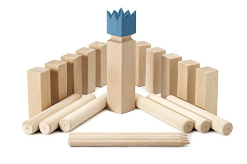 Kubbspel Classic Kubb Game Blue KIng (Made in Italy) by Kubbspel Classic