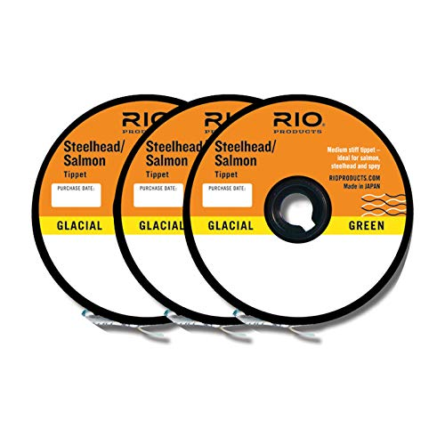 Rio Fly Fishing Tippet Steelhead/Salmon Tippet 3-Pack 10 Fishing Line,12 Fishing Line,16Lb Fishing Line, Clear