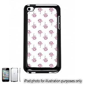 Pink Pretty Floral Flowers Pattern Apple iPod 4 Touch Hard Case Cover Shell Black 4th Generation