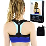 Premium Posture Corrector for Women & Men - Improve Posture with Support from Clavicle Brace to Keep Straight Back, Fix Forward Neck and Look More Confident (by SkillfulFitness)