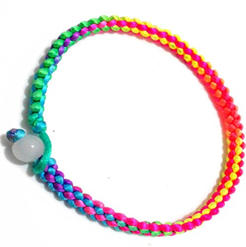 Price comparison product image Winter's Secret Hand Braided Rainbow Colorful Rope Lover Style Amulet Wrap Bracelet