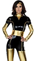 Forplay Women's Captivating Conqueror Two-Toned Catsuit and Headband