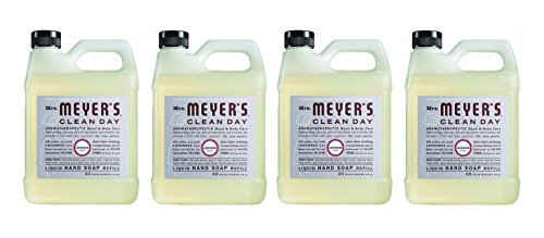 Earth Friendly, Mrs. Meyers Liquid Hand Soap Refill, 33 Oz, Lavender Scent, Pack of 4