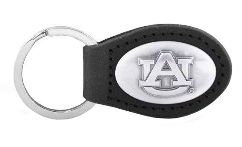 Auburn Tigers Black Leather (NCAA Auburn Tigers Black Leather Concho Key Fob, One Size)
