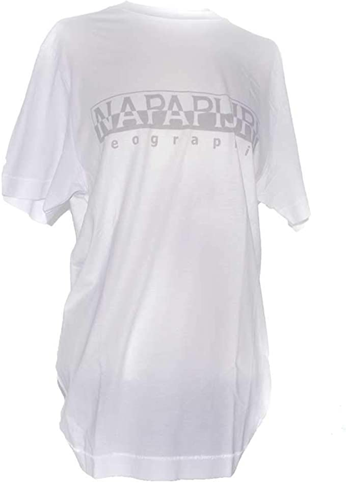 Napapijri Sevora Bright White Camiseta para Hombre: Amazon.es: Ropa y accesorios