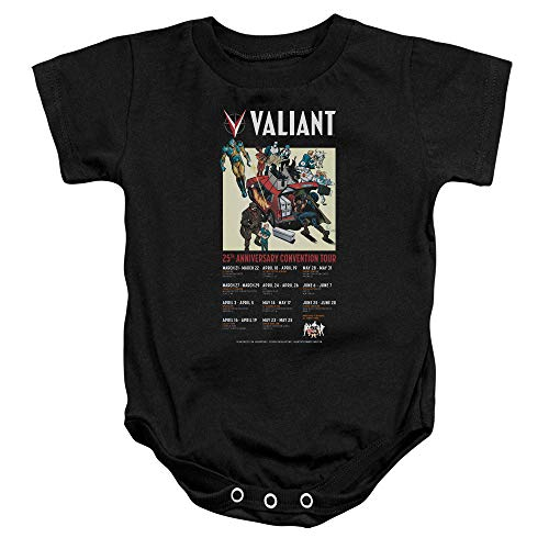 (Sons of Gotham Valiant Comics 25 Years Baby Bodysuit 6M Black)