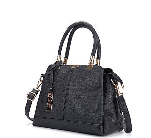 De Señoras Bag Nuevo Tendencias Hot Bolso Bag Blanco Bolso Meaeo Moda black Satchel C6gwnaxq
