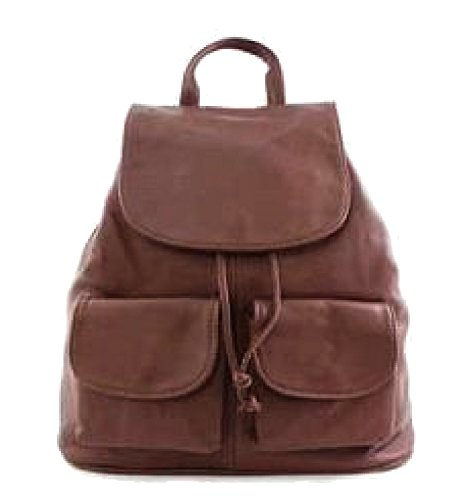 Bottega Carele - Backpack Brown Leather Bag For Women