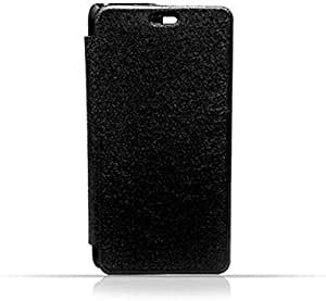 Samsung J1 2016 / J110 Black Frosted PU Leather Flip Cover